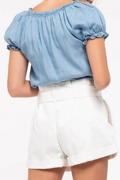 MONTREZ Peasant Chambray Top - Alternate List Image