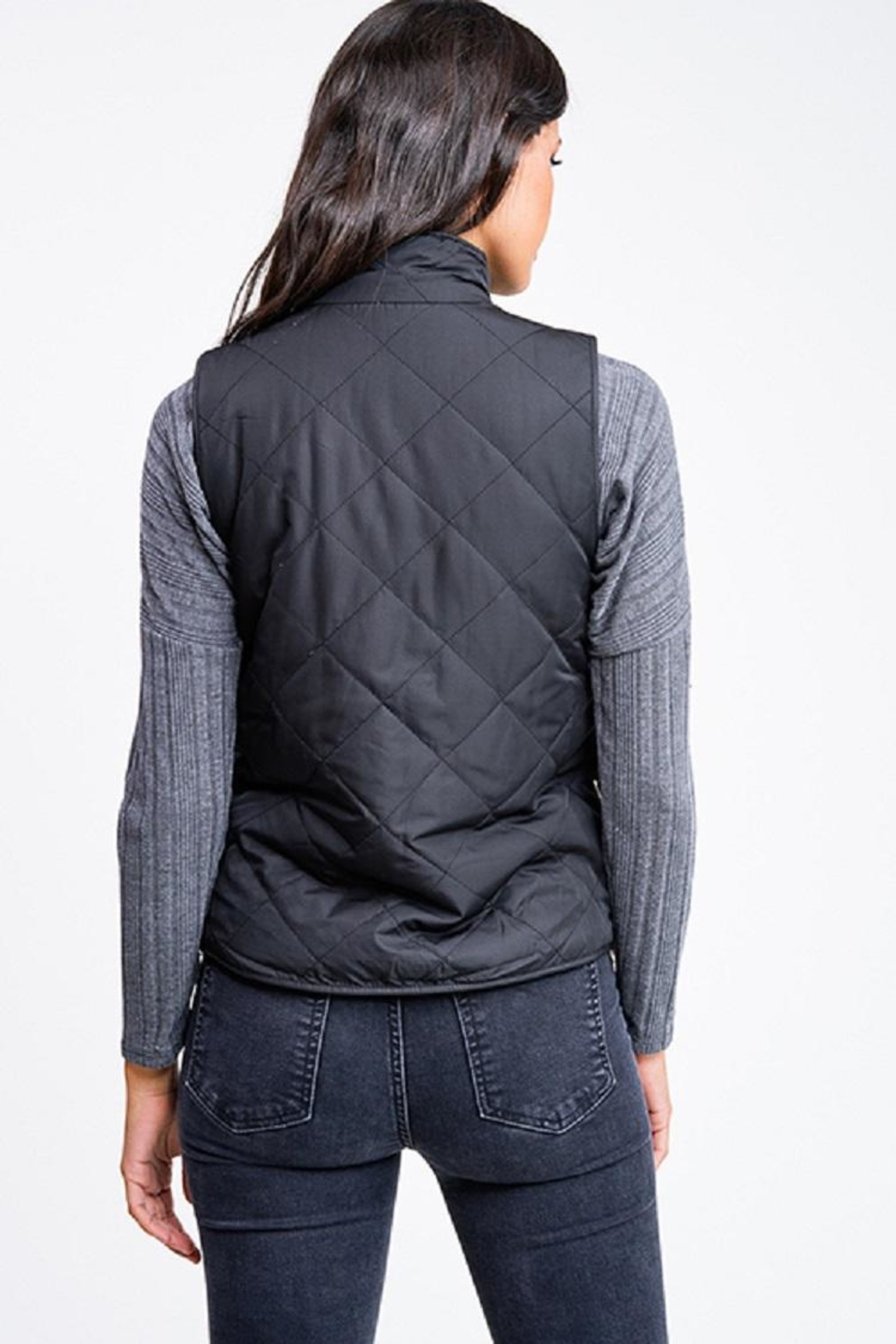 MONTREZ Quilted Reversible Vest - Front Full Image