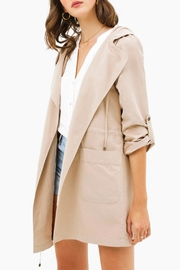 MONTREZ Taupe Hooded Trench - Product Mini Image