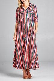 Racine Moody-Stripe Shirt-Maxi Dress - Product Mini Image