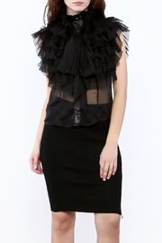 Moon Allover Ruffle Top - Product Mini Image