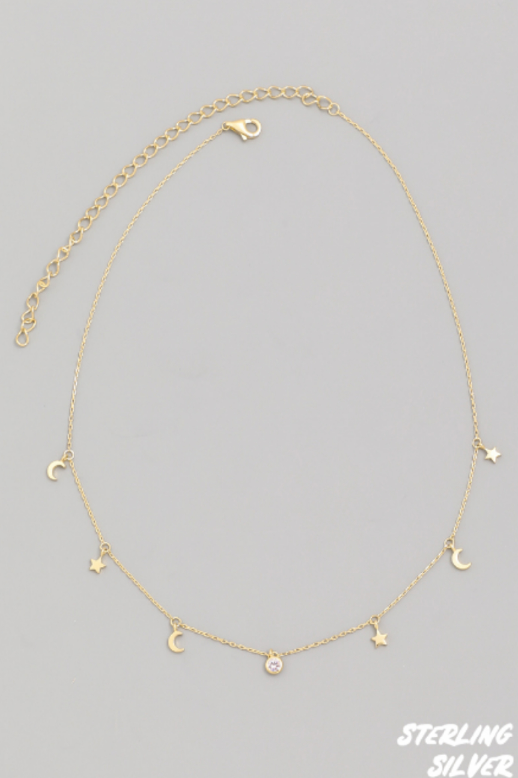 FAME ACCESORIES Moon and Star Choker - Main Image