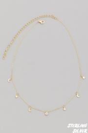 FAME ACCESORIES Moon and Star Choker - Front cropped
