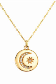 Kindred Row Moon and Stars Necklace - Front cropped