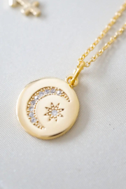 Kindred Row Moon and Stars Necklace - Front full body