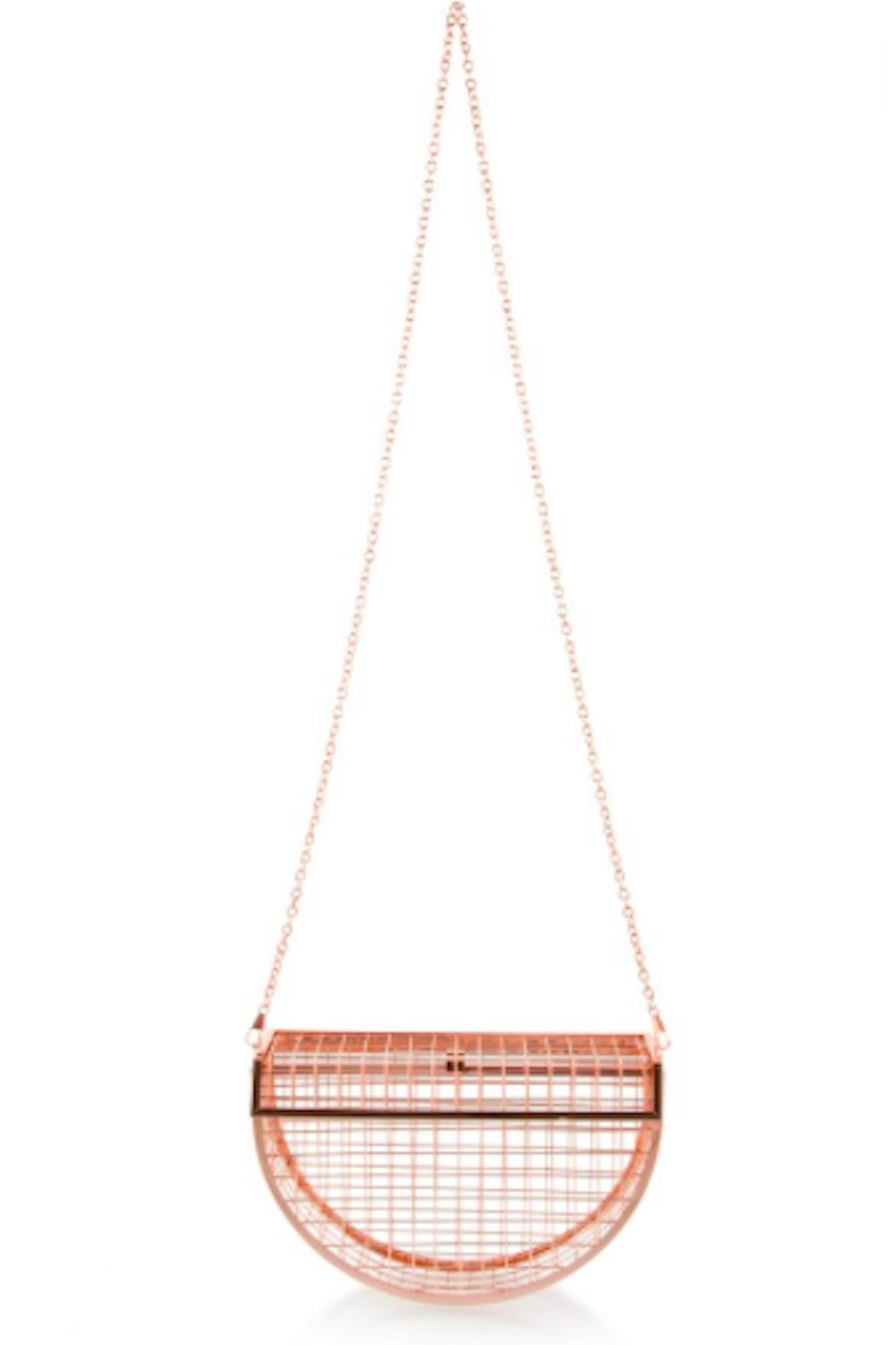 TIMELESS Moon Cage Clutch - Back Cropped Image