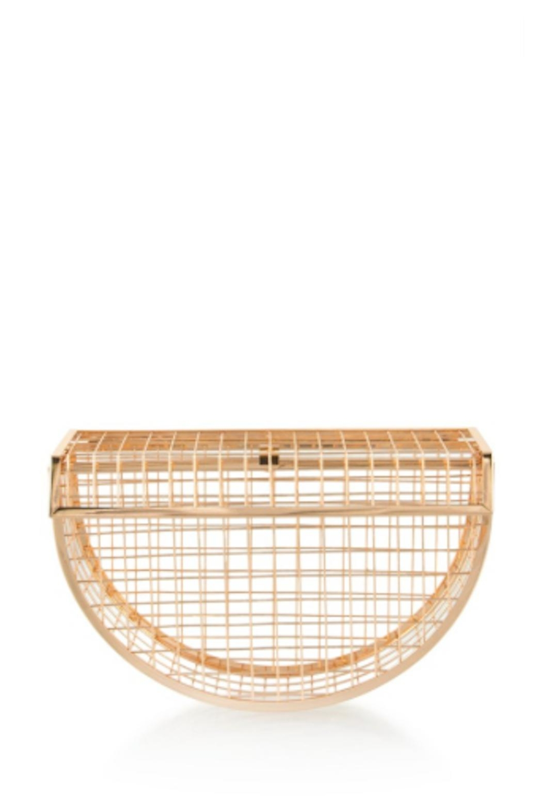 TIMELESS Moon Cage Clutch - Front Cropped Image