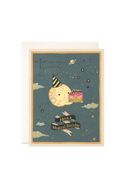 JooJoo Paper Moon Cake Birthday Card - Front cropped
