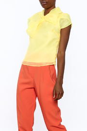 Shoptiques Product: Silky Cap Sleeve Blouse - Front cropped