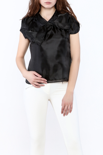 Shoptiques Product: Silky Cap Sleeve Blouse - main