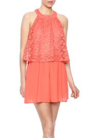 Moon Collection Coral Lace Romper - Product Mini Image
