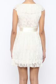 Moon Collection Lace Belted Dress - Back cropped