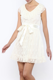 Moon Collection Lace Belted Dress - Product Mini Image