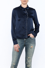 Moon Collection Navy Face Blouse - Product Mini Image