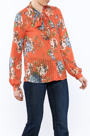 Moon Collection Orange Floral Blouse - Product Mini Image