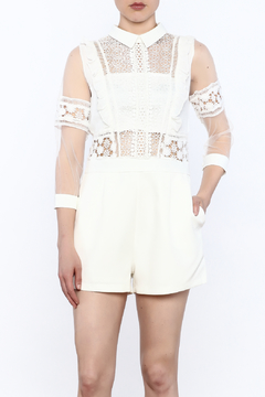 Shoptiques Product: White Crochet Top Romper