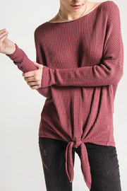 Others Follow  Moon Dance Tie Front Sweater - Product Mini Image