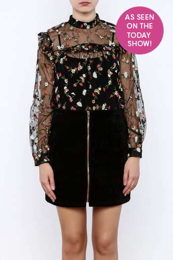 Shoptiques Product: Embroidered Top - main