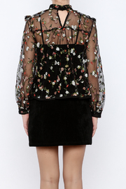 Shoptiques Product: Embroidered Top - Back cropped