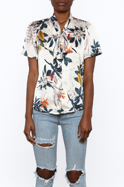Moon Floral Satin Blouse - Side cropped