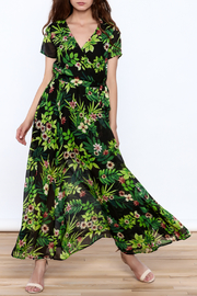 Moon Lightweight Floral Wrap Dress - Product Mini Image