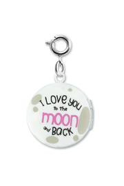 Charm It Moon Locket Charm - Front full body