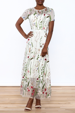 Moon Mesh Embroidered Dress - Product List Image