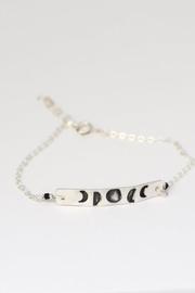 Chocolate and Steel Moon Phase Mantra Chain Bracelet - Product Mini Image