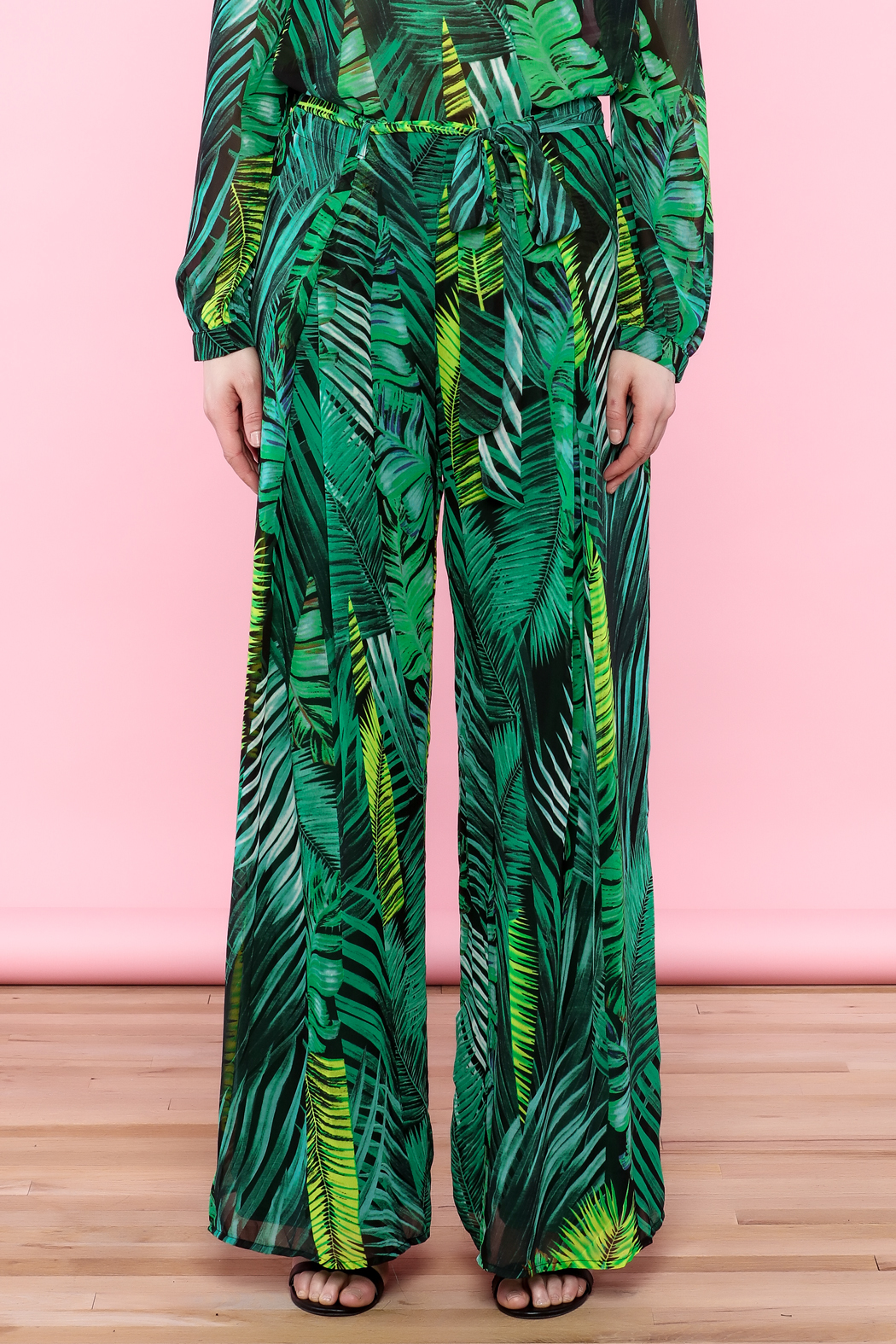 Moon Leaf Printed Pant - Front Full Image