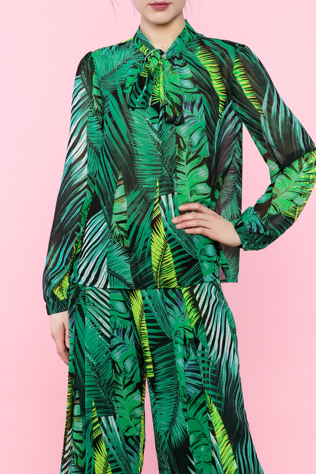 Moon Leaf Print Top - Front Full Image