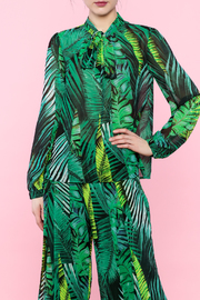 Shoptiques Product: Leaf Print Top - Front full body