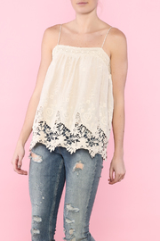 Moon River Beige Crochet Strappy Top - Product Mini Image