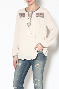Moon River Bohemian Linen Top - Product List Image