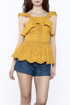 Shoptiques Product: Embroirdered Peplum Top
