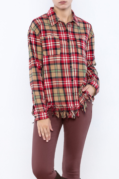 Shoptiques Product: Frayed Bottom Flannel