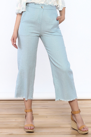 Moon River Woven Blue Pants - Product Mini Image