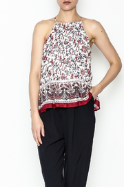 Moon River Printed Pleated Blouse - Product Mini Image