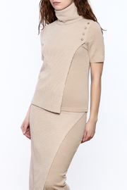 Moon River Beige Turtleneck Sweater - Product Mini Image