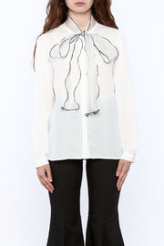 Moon White Button Down Blouse - Product Mini Image