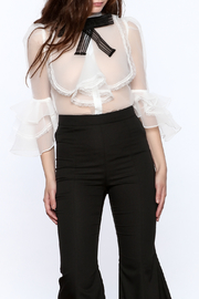 Moon Sheer Bow Tie Blouse - Product Mini Image