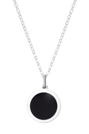 Auburn Jewelry Moon Silver Pendant - Mini - Front full body
