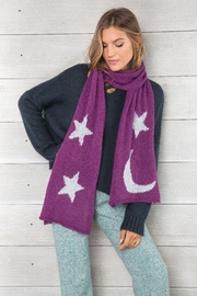 Wooden Ships Moon & Stars Scarf - Side cropped