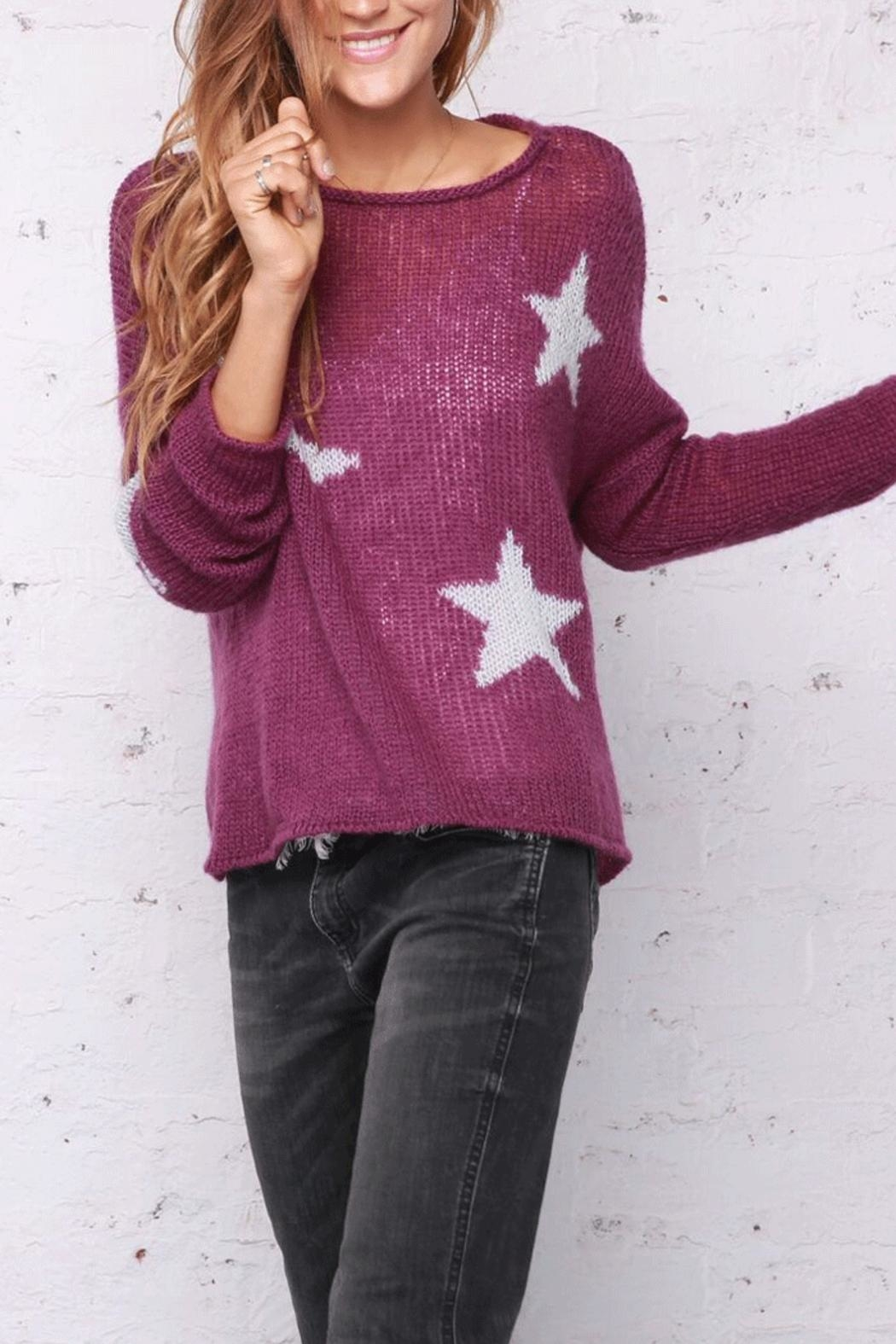 Wooden Ships Moon & Stars Sweater - Back Cropped Image