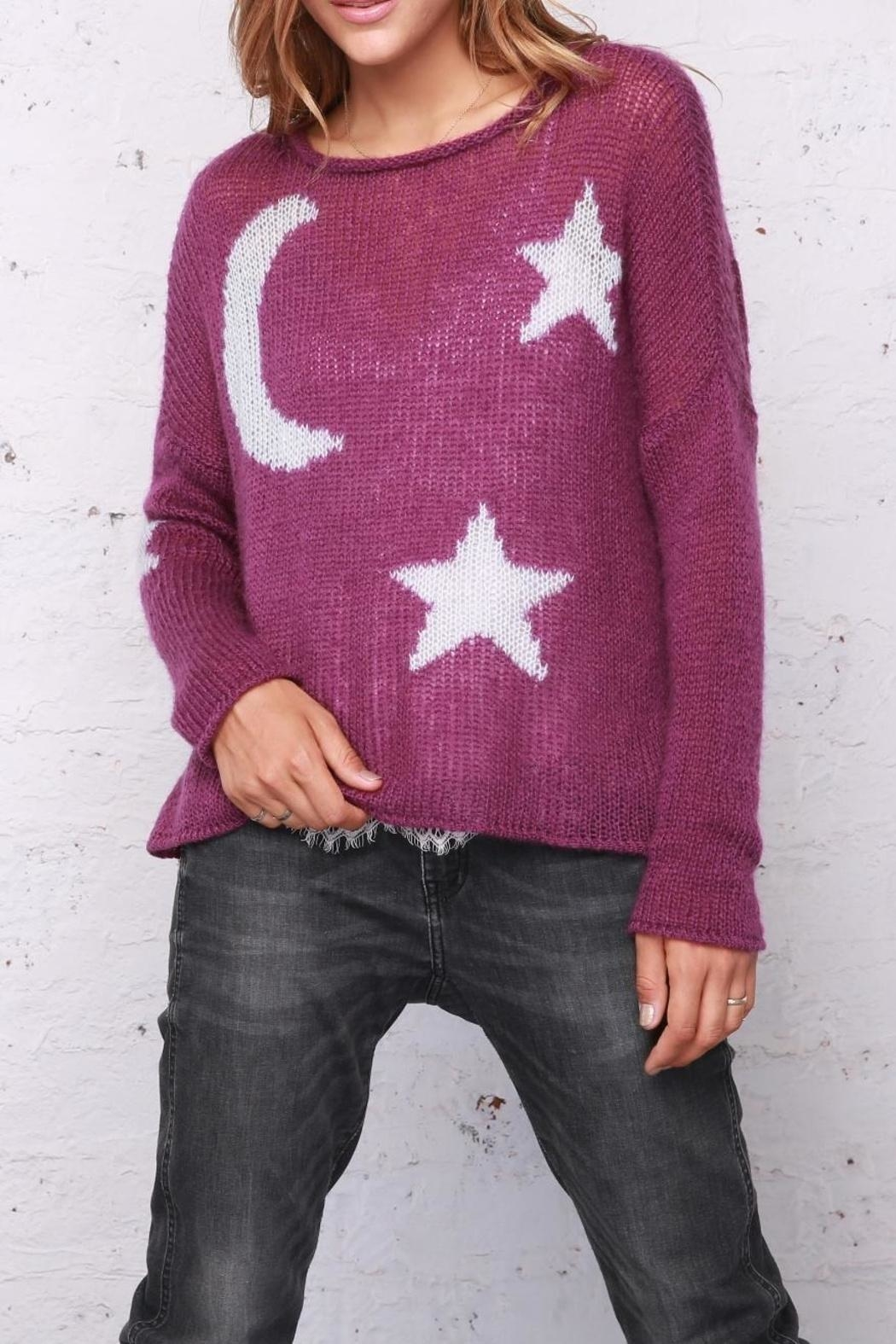 Wooden Ships Moon & Stars Sweater - Main Image