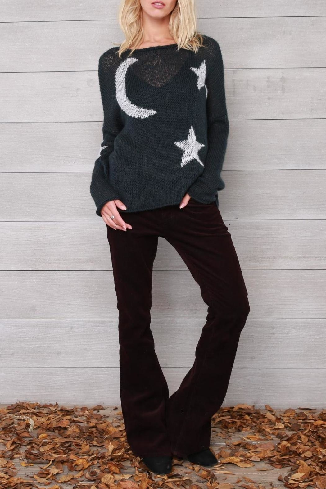 Wooden Ships Moon & Stars Sweater - Front Full Image