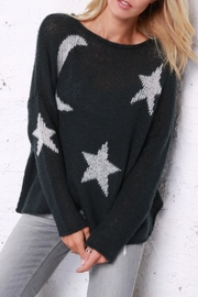 Wooden Ships Moon & Stars Sweater - Front cropped