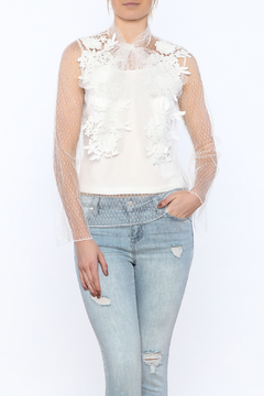 Shoptiques Product: Semi Sheer Lace Blouse