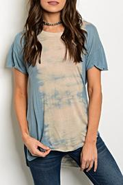 Moon + Arrow  Blue Tiedye Tee - Product Mini Image