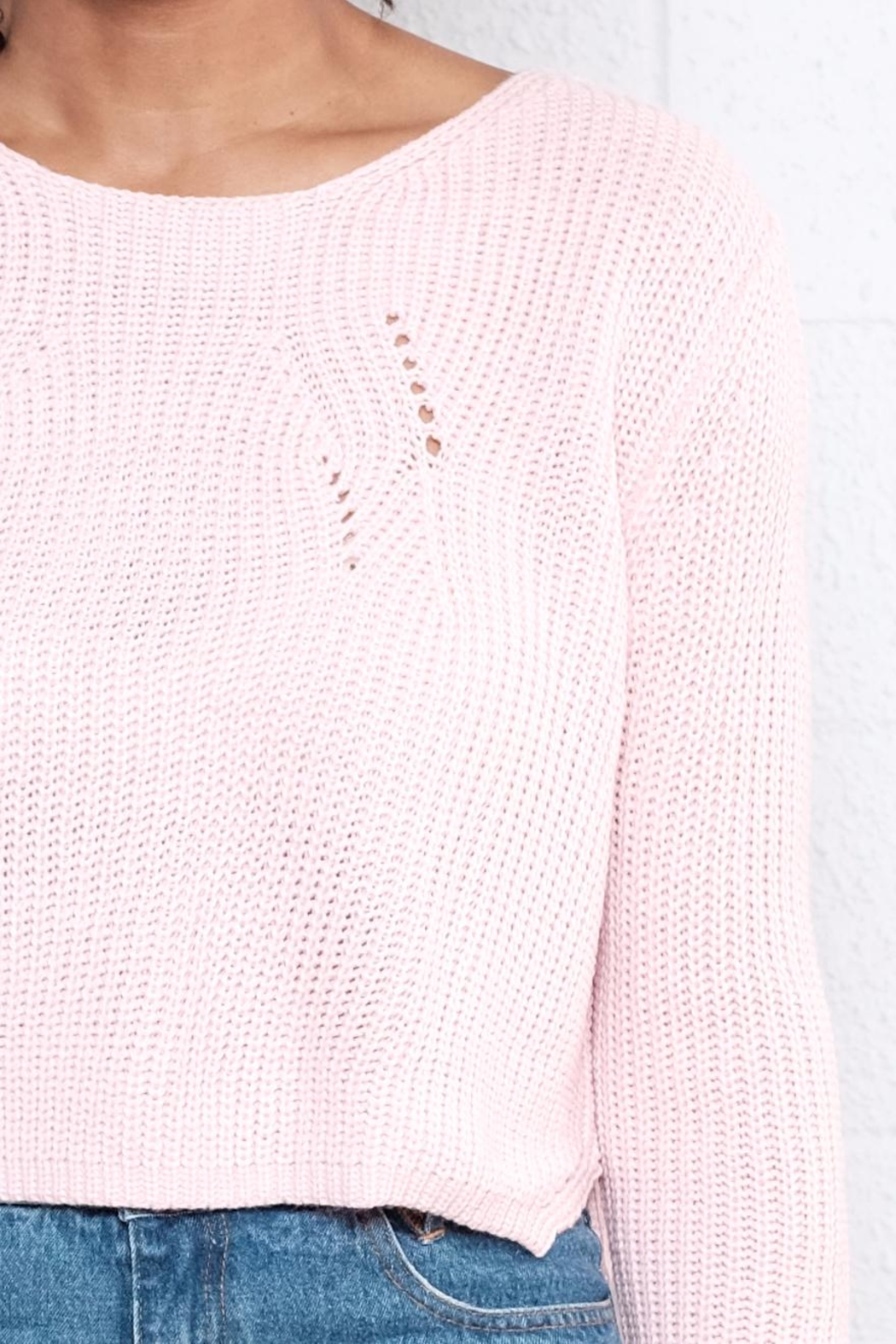 Moon Collection Cropped Knit Sweater from Vancouver by 8th & Main ...