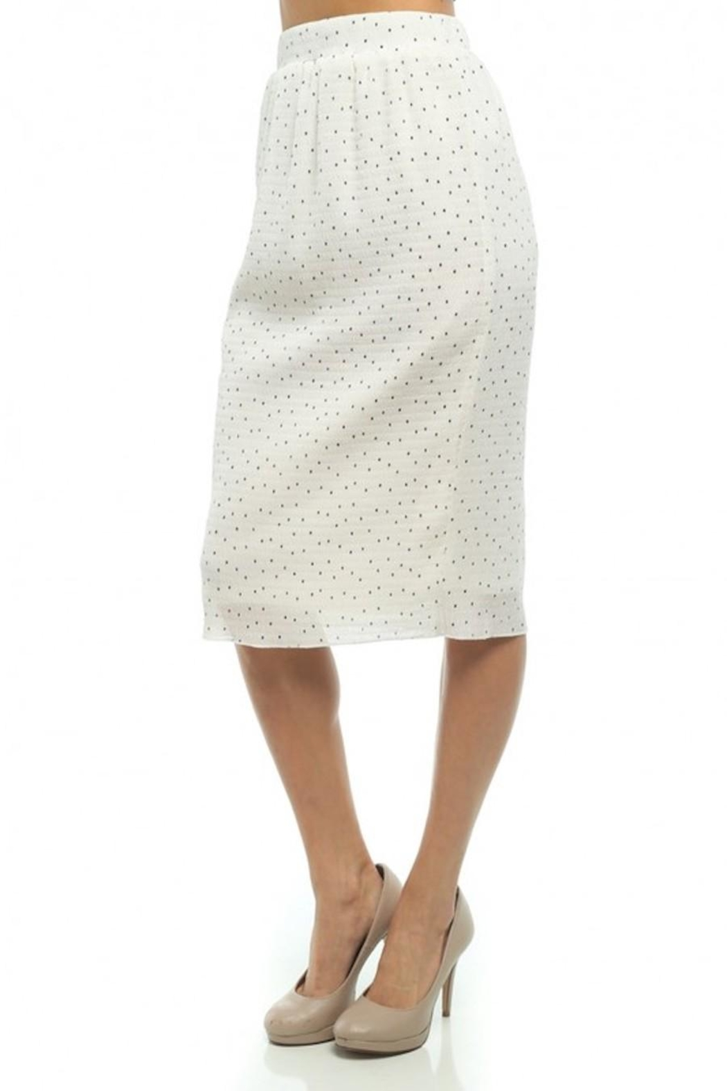 Moon Collection Dainty-Dots Pencil Skirt - Front Full Image